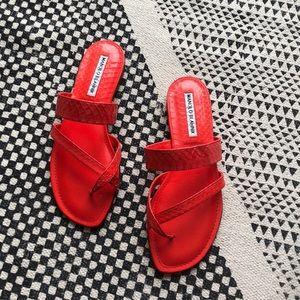 Brand new, Manolo Blahnik croc sandals (size 36.5)